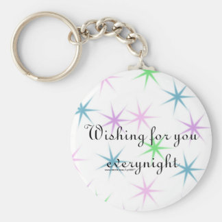 Wishing for you everynight basic round button keychain