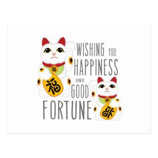 Wishing Happiness Postcard