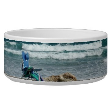 Beach Themed Wishing I was on the beach with my dog Bowl