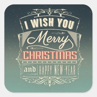 Wishing Merry Christmas Stickers