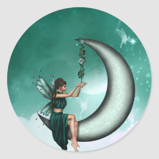 Wishing Moon Sticker