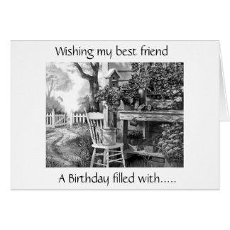 WISHING MY BEST FRIEND BIRTHDAY FILLED WITH JOY CARD