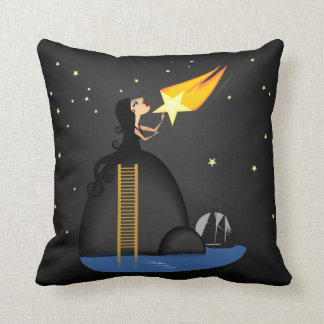 Wishing of a Falling Star Throw Pillows