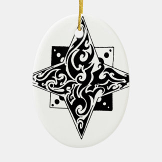 Wishing on a star ceramic ornament