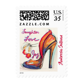 WISHING SHOE (LAUGHTER, JOY & LOVE) POSTAGE STAMPS