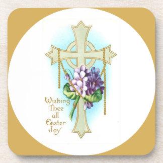 Wishing Thee All Easter Joy Custom Drink Coaster
