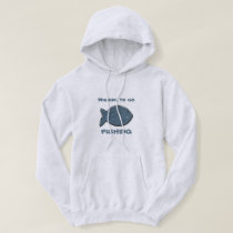 Wishing to go Fishing Wedgewood Fish Hoodie