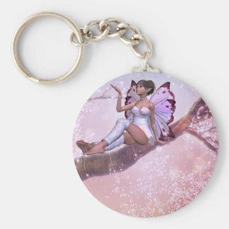 Wishing Tree Fairy Key Ring Basic Round Button Keychain