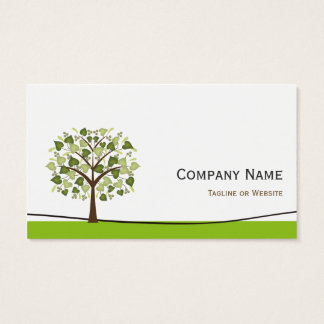 Wishing Tree of Hearts - Simple Green Stylish Business Card