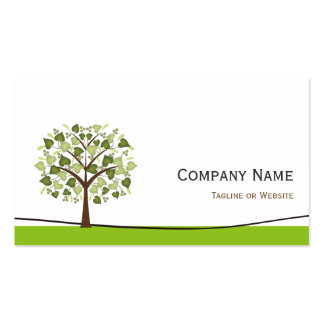 Wishing Tree of Hearts - Simple Green Stylish Double-Sided Standard Business Cards (Pack Of 100)