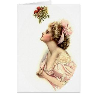 Wishing Under the Mistletoe Card