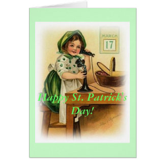 Wishing Vintage Happy St. Patrick's Day Message Card