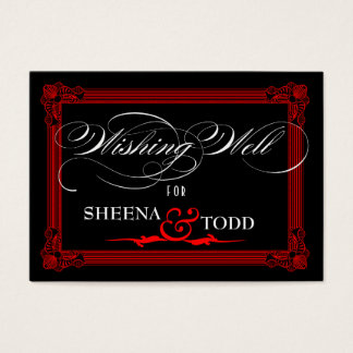 """""""Wishing Well"""" cash gift request card"""