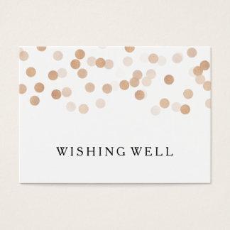 Wishing Well Copper Foil Glitter Lights Business Card