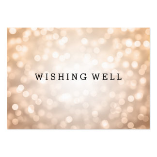 Wishing Well Copper Glitter Lights Large Business Card