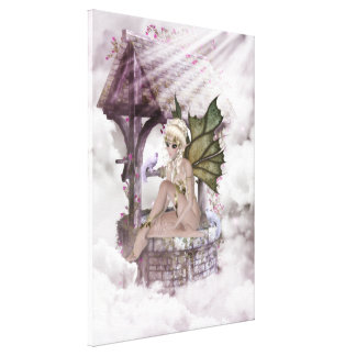Wishing Well Faerie Wrapped Canvas Canvas Print