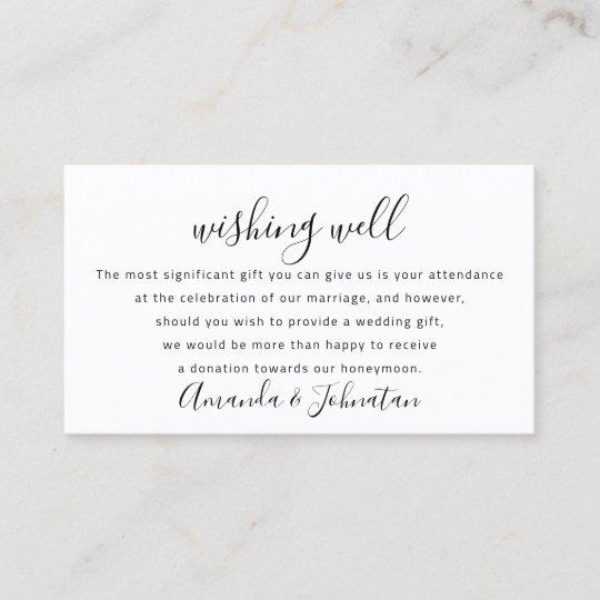 Wishing Well For Wedding Invitation Honeymoon Gift Zazzle Com