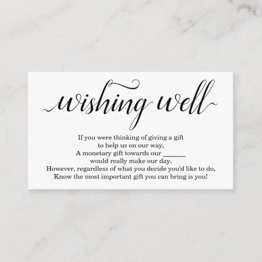 Wishing Well For Wedding Invitation Simple Zazzle Com