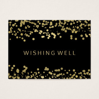 Wishing Well Gold Foil Confetti Business Card