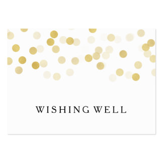 Wishing Well Gold Foil Glitter Lights Large Business Card