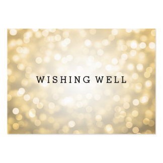 Wishing Well Gold Glitter Lights Large Business Cards (Pack Of 100)