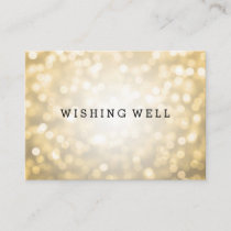 Wishing Well Gold Glitter Lights Enclosure Card