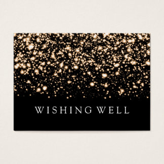 Wishing Well Gold Midnight Glam Business Card