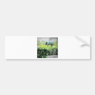 Wishing Well Greeting Cards Bumper Sticker