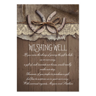 Wishing Well Horseshoes Rustic Cards Large Business Cards (Pack Of 100)