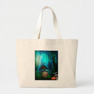 WISHING WELL.jpg Large Tote Bag