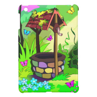 Wishing Well Magic Forest Butterflies Flowers Case For The iPad Mini