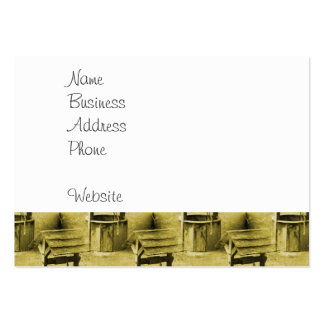 Wishing Well Pattern Faded Vintage Tan Large Business Card