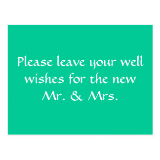 wishing well sign postcards