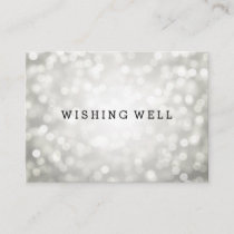 Wishing Well Silver Glitter Lights Enclosure Card