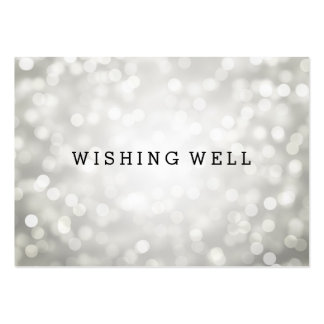 Wishing Well Silver Glitter Lights Large Business Card