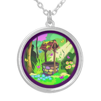 Wishing Well Silver Plate Necklace