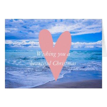 """Beach Themed """"WISHING YOU A BEAUTIFUL CHRISTMAS"""" CARD"""
