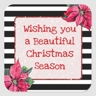 Wishing you a Beautiful Christmas Season Stickers