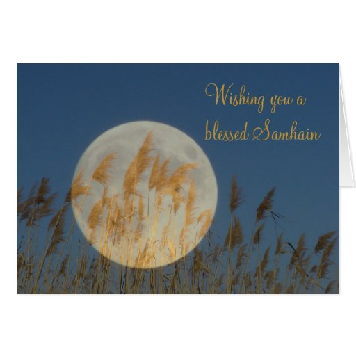 Wishing you a blessed Samhain Card
