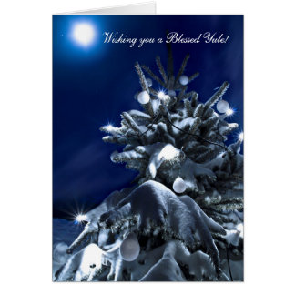 Wishing you a Blessed Yule Greeting Card