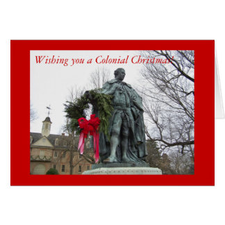 Wishing you a Colonial Christmas Card