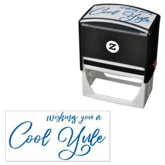 Wishing You A Cool Yule Modern Script Self-inking Stamp