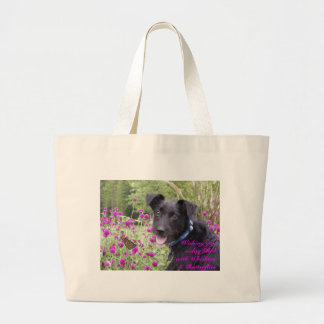 Wishing you a day filled with Whiskers and Butterf Jumbo Tote Bag
