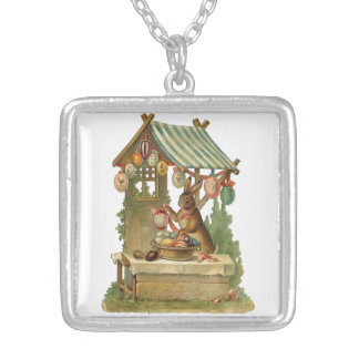 Wishing You a Happy Easter Silver Plated Necklace