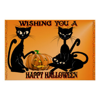 Wishing You A Happy Halloween Posters