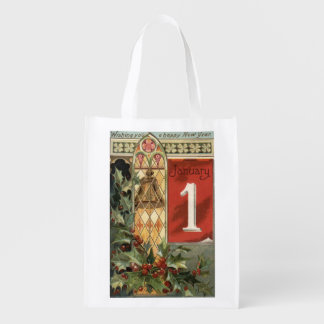 Wishing You a Happy New YearBell Scene Grocery Bags