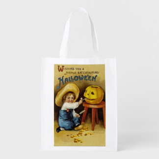 Wishing You a Highly Entertaining Halloween Grocery Bag
