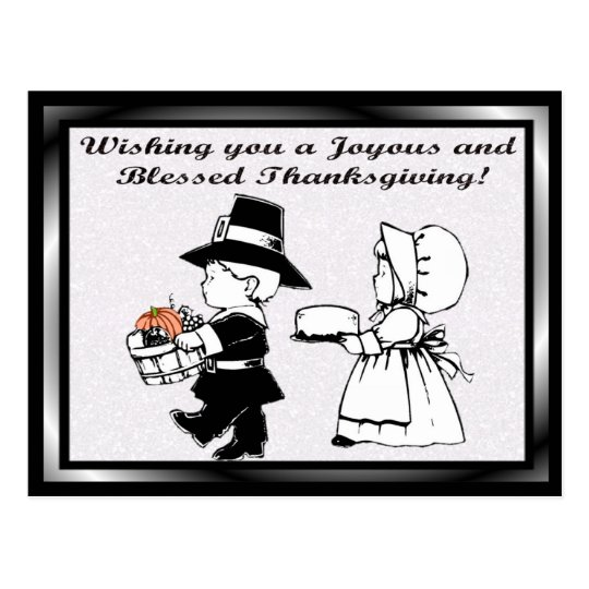 Wishing you a Joyous and  Blessed Thanksgiving! Postcard