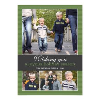 Wishing you a joyous holiday season   5x7   Flat Personalized Invites