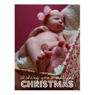 Wishing You A Magical Christmas Photo Postcard